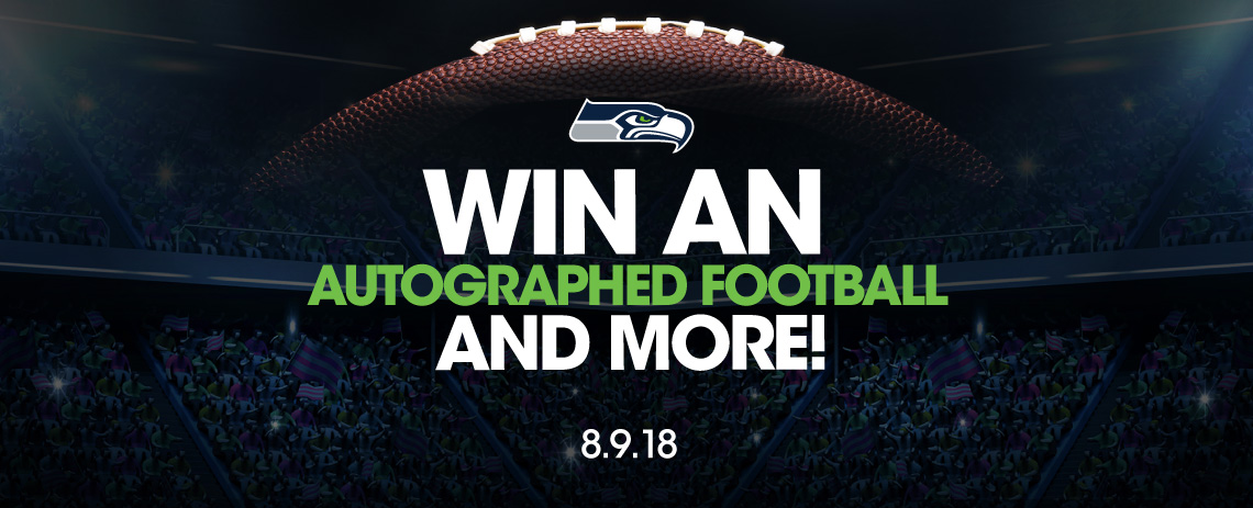 Win an autographed football and more!