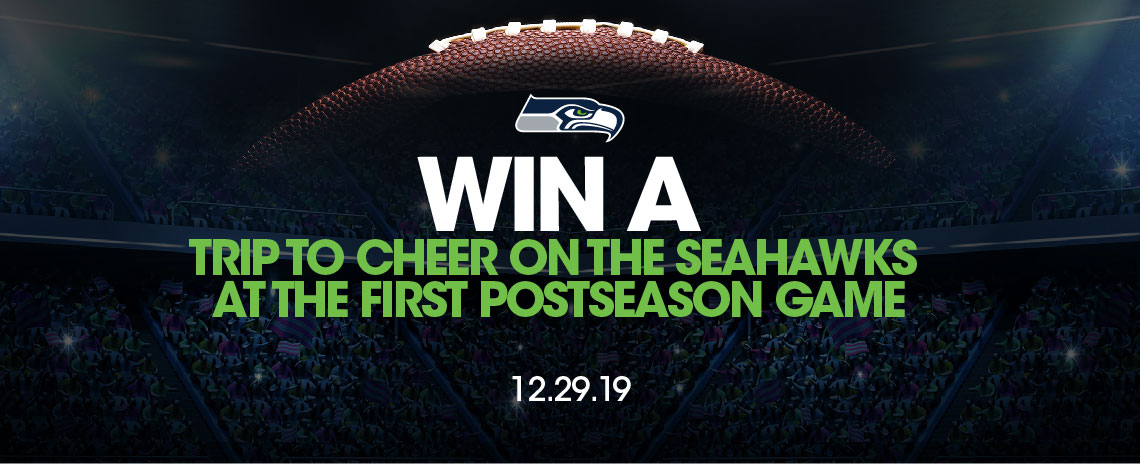 Win a Trip to Cheer on the Seahawks at the First Postseason Game