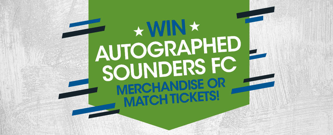 Autographed Sounders FC Merchandise or Match Tickets!