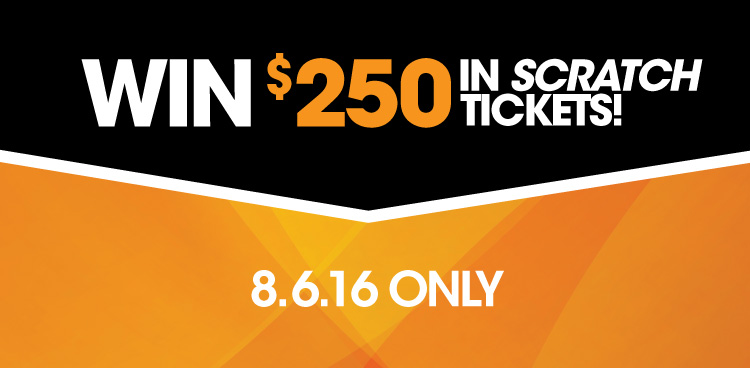 Win $250 in Scratch Tickets