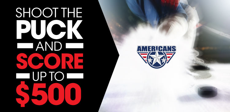 Shoot the Puck and Score up to $500