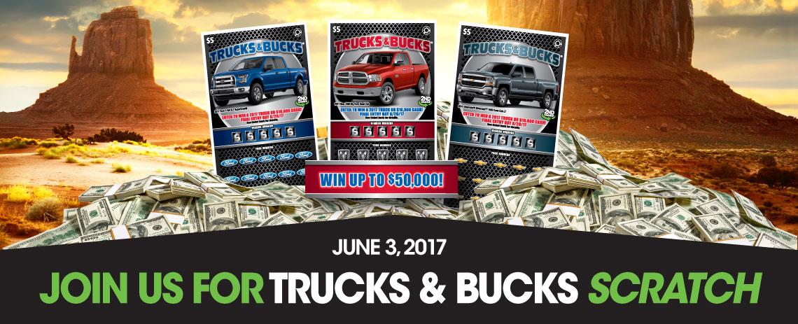 Join us for Trucks & Bucks Scratch