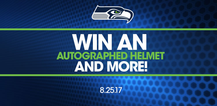 Win an autographed helmet and more!