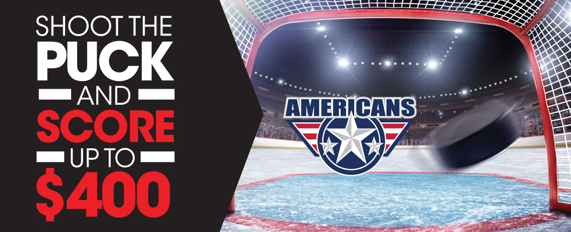Shoot the Puck and Score up to $400
