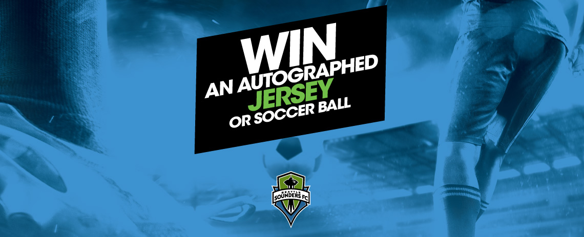 Autographed Sounders FC Jersey or Soccer Ball