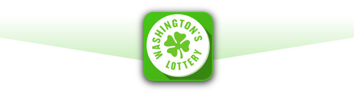 Washinton's Lottery App Badge on light green background